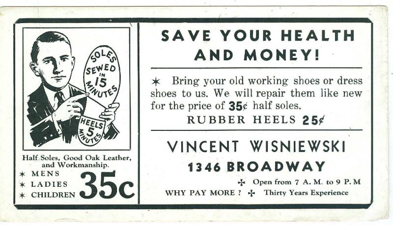 Shoe Repair, Vincent Wisniewski, Broadway NYC