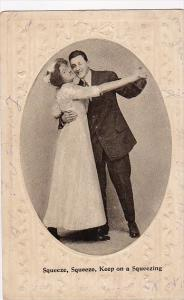 Romantic Couple Dancing Squeeze Squeeze Keep On Squeezing 1911