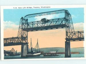 Unused W-Border BRIDGE SCENE Tacoma Washington WA H8248