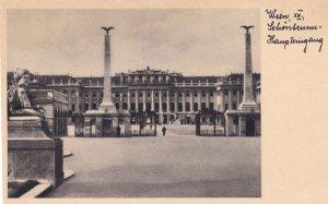 Wien Schonbrunn Haupteingang Austria Vintage Postcard