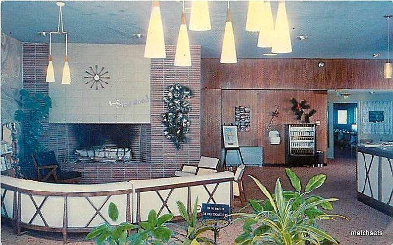 Dover New Hampshire Sherwood Motor Hotel Interior 2138 Postcard