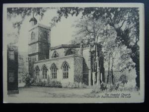 London Smithfield ST. BARTHOLOMEW HOSPITAL Hospital Church Old Appeal Postcard