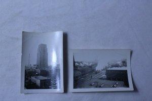 Lot of 2 Vintage Black & White Photos of Battle Creek, MI Security Tower