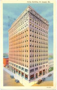 Linen of Corby Building in St. Joseph Missouri MO 1942