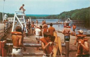 North Colebrook CT~YMCA of Greater Hartford Watefront~Life Jacket Swimmers~1960s