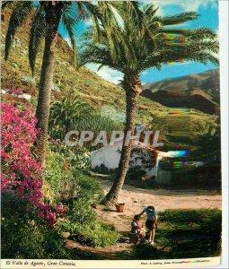 Modern Postcard El Valle de Agaete Gran Canaria Landscape of valle de Agaete