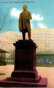 New York City Battery Park Ericsson Statue 1911