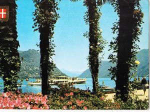 Switzerland, LUGANO, La Passeggiata, 1980 used Postcard