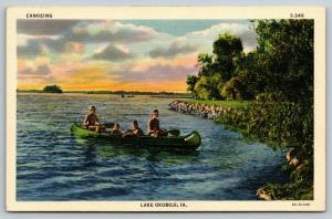 Lake Okoboji Iowa~Mom & Dad, Brother & Sister~Canoeing Adventure @ Sunrise~Linen
