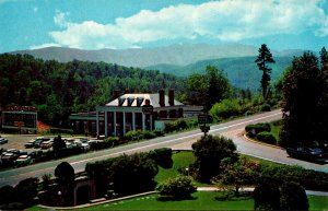 Virginia Natural Bridge View From Porch Of Hotel Showing Rockbridge Center an...