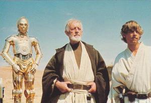 Star Wars, C-3PO, Jedi Obi-Wan Canobi and Luke Skywalker, 1970-80s