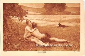 R. Collin Nude Postcard Jeunesse Unused
