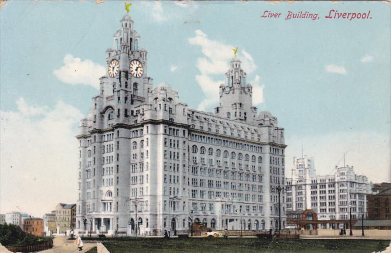 LIVERPOOL, Lancashire, 1900-1910's; Liver Building