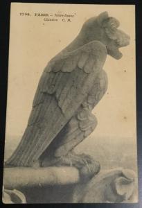 Postcard Unused 1703 Paris Notre-Dame Chimere C.M. LB