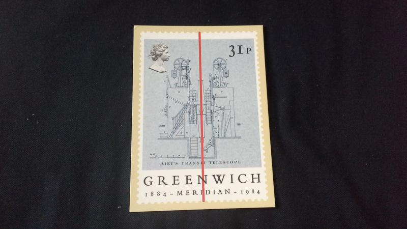 Post Office PHQ Stamp Card Greenwich Meridian (Time Airys Transit Telescope) 31p