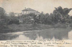 FT MYERS, Florida, 1907; Home of Thos. A. Edison