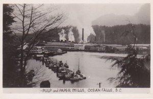 RP: OCEAN FALLS , B.C. , Canada , 30-40s; Pulp & Paper Mills