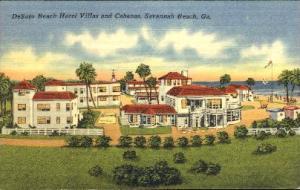 De Soto Beach Hotel Villas Savannah GA 1954
