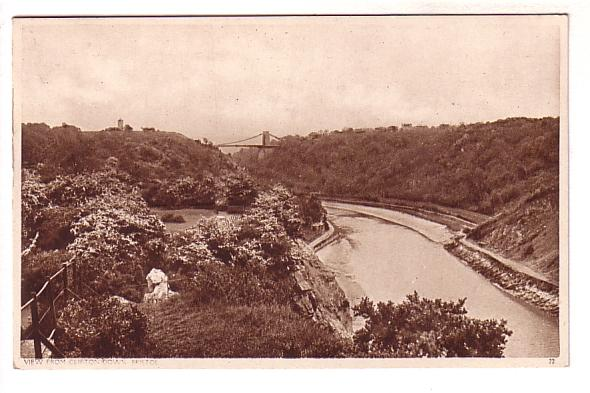 Sepia, Bristol from Cliffton Down, England Prime Minister Churchill T N T Quote
