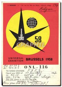 Postcard Old Telegraphie ONL116 Universal Exhibition in 1958