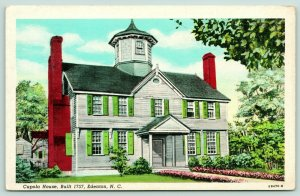 Edenton NC Carteret, Earl of Granville's Home~The Octagon Cupola House~1940s PC