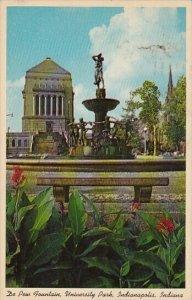 De Pew Fountain University Park Indiana World War Memorial Indianapolis India...
