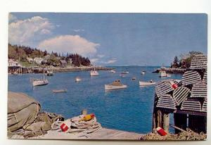 Lobster Boats and Traps, Typical Harbour, Maine,