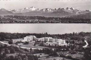 RP, 2Views, Palais Des Nations O.N.U. Et Le Mt. Blanc, Geneve, Switzerland, 1...