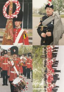 1st Batallion of Fusiliers Military Parade 4x Drummers Pipers Uniform Postcard s