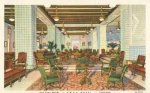 The East Room, YMCA Hotel, Chicago, Illinois, unused line...