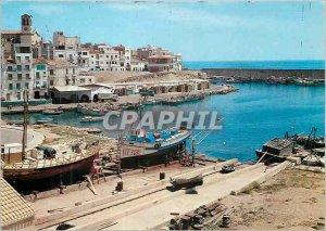 Modern Postcard Costa Dorada Tarragona Ameilla de Mar harbor Boats