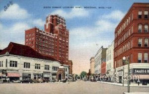 Sixth Street Looking East in Meridian, Mississippi