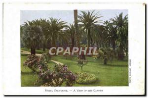 Old Postcard Hotel California A View Of The Garden
