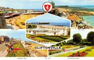 Vintage Kent Multi View Postcard, Cliftonville FM5