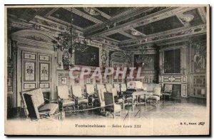 Old Postcard Fontainebleau Salon Louis XIII