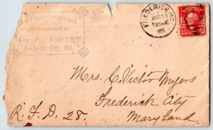 1891-1913 FREDERICK MARYLAND DOUBS MORGANS WALKERSVILLE LOT/21 COVERS+LETTERS