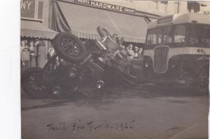 RP: Fire Truck - Bus Wreck , Trail , B.C. , Canada 1945