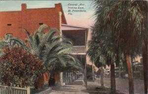Florida St Petersburg Central Avenue Looking East 1910 Curteich