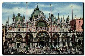 Old Postcard Venezia Square and Church of St. Mark