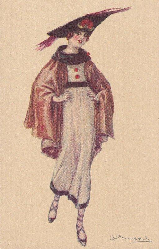 Art Deco ; BOMPARD ; Fashion Woman Portrait #14 , 1910-20s