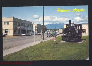 PALMER ALASKA DOWNTOWN STREET SCENE 1960's CARS VINTAGE POSTCARD