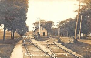 East Wilton Station ME Railroad Station Train Depot Real Photo Postcard