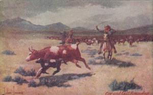 Cow and Calf Roundup by John Innes