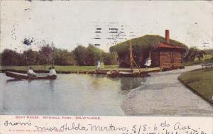 Wisconsin Milwaukee Boat House Mitchell Park 1906