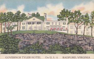 Governor Tyler Hotel, U.S. 11, RADFORD, Virginia, 30-40's