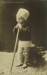 Romania, Prince Nicholas (1900s) RPPC Postcard