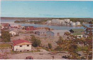 Joliffe Island with Fuel Storage Tanks , YELLOWKNIFE , N.W.T. , Canada , 50-60s