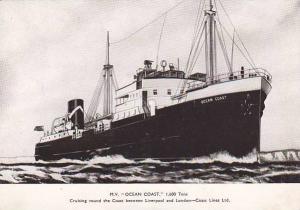 Ocean Liner M.V. OCEAN COAST , Liverpool-London Route , 1930s