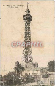 Old Postcard Lyon Metallic Tower of Fourviere