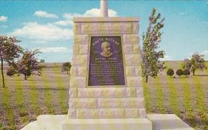 Kansas Knute Rockne Memorial Matfield Green Service Area Kansas Turnpike